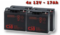 APC RBC55, battery replacement kit (4 pcs. CSB GP12170)