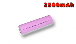 Industrial Rechargeable Cell 18650 3,7V 2500mAh