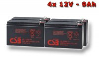 APC RBC133, battery replacement kit (4 pcs. CSB HR1234W F2)