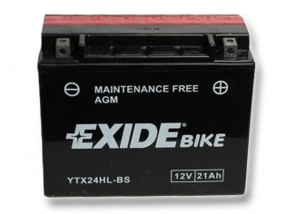 EXIDE BIKE Maintenance Free 21Ah, 12V, YTX24HL-BS