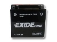 EXIDE BIKE Maintenance Free 12Ah, 12V, YTX14-BS