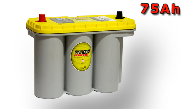 Optima Yellow Top S-5.5, 75Ah, 12V (851-187)