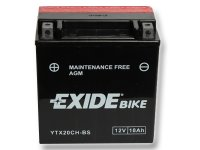 EXIDE BIKE Maintenance Free 18Ah, 12V, YTX20CH-BS