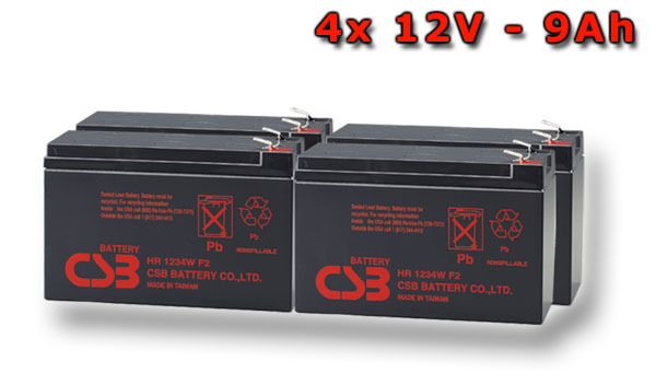 APC RBC115, battery replacement kit (4 pcs. CSB HR1234W F2)