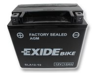 EXIDE BIKE Factory Sealed 12Ah, 12V, AGM12-12 (YTX14-BS)