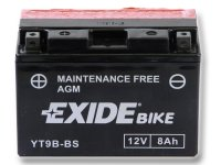 EXIDE BIKE Maintenance Free 8Ah, 12V, YT9B-BS