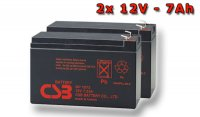 APC RBC123, battery replacement kit (2 pcs. CSB GP1272 F2)