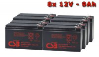 APC SYBTU1, battery replacement kit (8 pcs. CSB HR1234WF2)