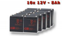 APC SYBT2, battery replacement kit (10 pcs. CSB HR1221WF2)