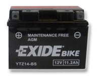 EXIDE BIKE Maintenance Free 11.2Ah, 12V, YTZ14-BS