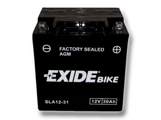 EXIDE BIKE Factory Sealed 30Ah, 12V, AGM12-31 (YIX30L-BS)