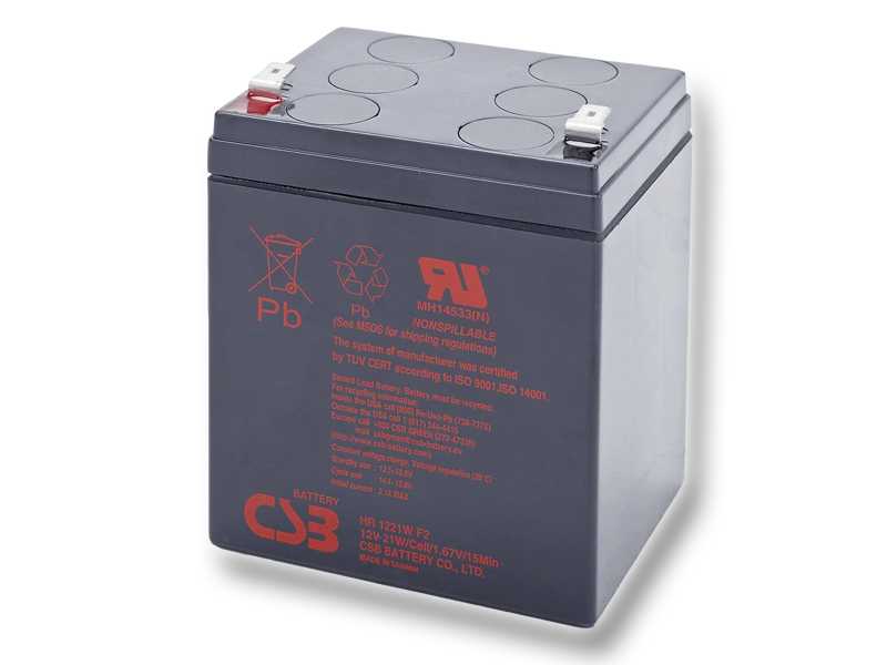 CSB HR1221W F2, 5,1Ah, 12V, F2 - 6,3 mm